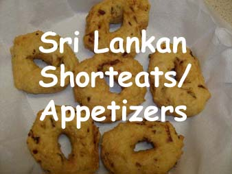 Sri Lankan Shorteats/Appetizers